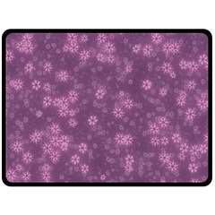 Snow Stars Lilac Double Sided Fleece Blanket (Large)