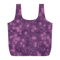 Snow Stars Lilac Full Print Recycle Bags (L)