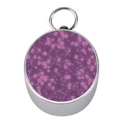Snow Stars Lilac Mini Silver Compasses