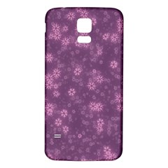 Snow Stars Lilac Samsung Galaxy S5 Back Case (White)