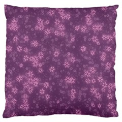 Snow Stars Lilac Large Flano Cushion Cases (One Side)