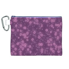 Snow Stars Lilac Canvas Cosmetic Bag (XL)