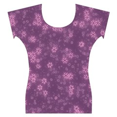 Snow Stars Lilac Women s Cap Sleeve Top