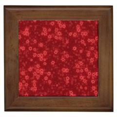 Snow Stars Red Framed Tiles