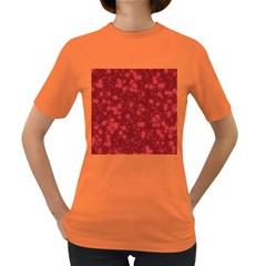 Snow Stars Red Women s Dark T Shirt