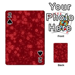 Snow Stars Red Playing Cards 54 Designs
