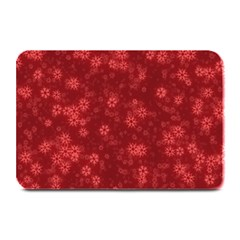 Snow Stars Red Plate Mats