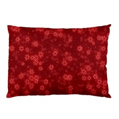 Snow Stars Red Pillow Cases