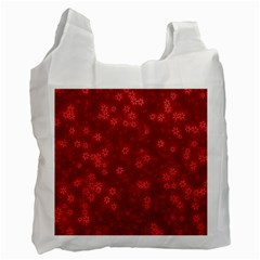 Snow Stars Red Recycle Bag (One Side)