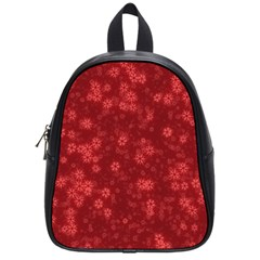Snow Stars Red School Bags (Small)