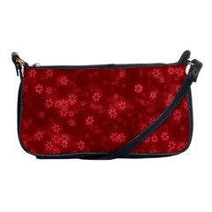 Snow Stars Red Shoulder Clutch Bags