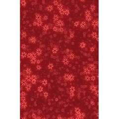 Snow Stars Red 5.5  x 8.5  Notebooks
