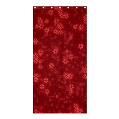 Snow Stars Red Shower Curtain 36  x 72  (Stall)