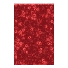 Snow Stars Red Shower Curtain 48  x 72  (Small)