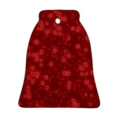Snow Stars Red Ornament (Bell)