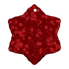 Snow Stars Red Snowflake Ornament (2-Side)