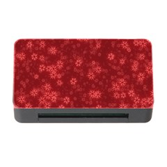 Snow Stars Red Memory Card Reader with CF