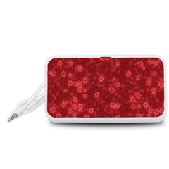 Snow Stars Red Portable Speaker (White)