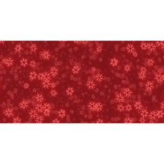 Snow Stars Red YOU ARE INVITED 3D Greeting Card (8x4)