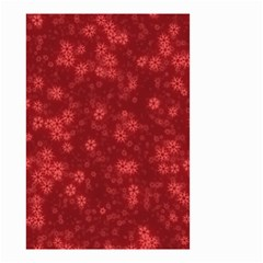 Snow Stars Red Small Garden Flag (Two Sides)