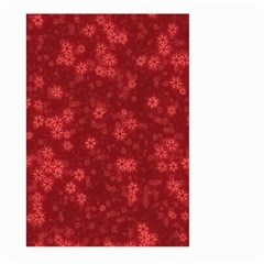 Snow Stars Red Large Garden Flag (Two Sides)