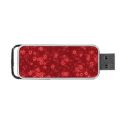 Snow Stars Red Portable USB Flash (One Side)