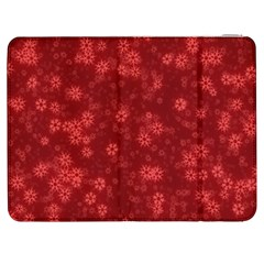Snow Stars Red Samsung Galaxy Tab 7  P1000 Flip Case