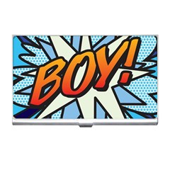 Comic Book Boy!  Business Card Holders