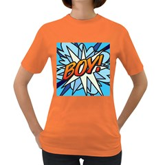 Comic Book Boy!  Women s Dark T-Shirt
