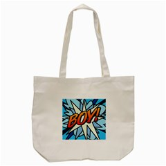 Comic Book Boy!  Tote Bag (Cream)