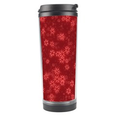 Snow Stars Red Travel Tumblers