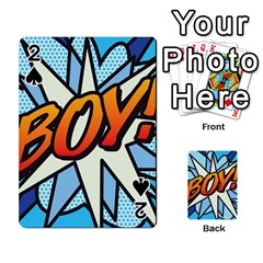 Comic Book Boy!  Playing Cards 54 Designs