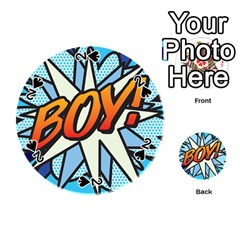 Comic Book Boy!  Playing Cards 54 (Round)