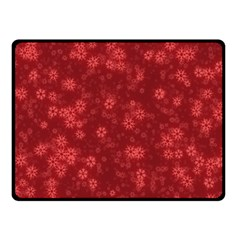 Snow Stars Red Double Sided Fleece Blanket (Small)