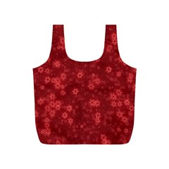 Snow Stars Red Full Print Recycle Bags (s)