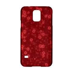 Snow Stars Red Samsung Galaxy S5 Hardshell Case