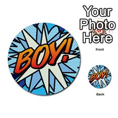 Comic Book Boy!  Multi-purpose Cards (Round)