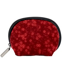 Snow Stars Red Accessory Pouches (Small)