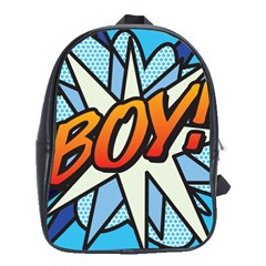 Comic Book Boy!  School Bags(Large)
