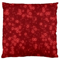Snow Stars Red Standard Flano Cushion Cases (two Sides)
