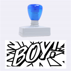 Comic Book Boy!  Rubber Stamps (Large)
