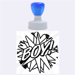 Comic Book Boy!  Rubber Round Stamps (Large)