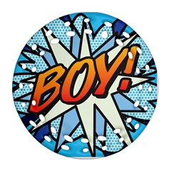 Comic Book Boy!  Ornament (Round Filigree)