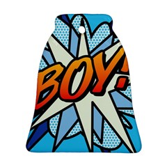 Comic Book Boy!  Bell Ornament (2 Sides)