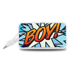 Comic Book Boy!  Portable Speaker (White)