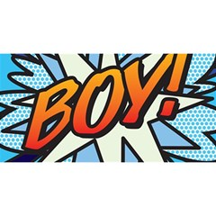 Comic Book Boy!  YOU ARE INVITED 3D Greeting Card (8x4)