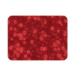 Snow Stars Red Double Sided Flano Blanket (mini)