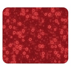 Snow Stars Red Double Sided Flano Blanket (Small)