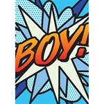 Comic Book Boy!  Peace Sign 3D Greeting Card (7x5)  Inside