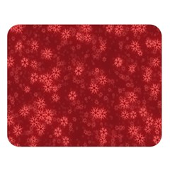 Snow Stars Red Double Sided Flano Blanket (Large)